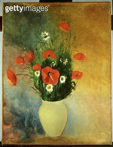 <b>Title</b> : Red Poppies and Ox-eye Daisies, c.1913 (oil on canvas)<br><b>Medium</b> : oil on canvas<br><b>Location</b> : Private Collection<br> - gettyimageskorea