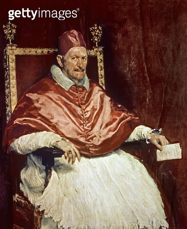Portrait of Pope Innocent X (1574-1655)/ 1650 (oil on canvas) - gettyimageskorea