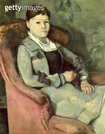 <b>Title</b> : The Artist's Wife in an Armchair, c.1867 (oil on canvas)<br><b>Medium</b> : oil on canvas<br><b>Location</b> : Buhrle Collection, Zurich, Switzerland<br> - gettyimageskorea