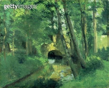<b>Title</b> : The Little Bridge, Pontoise, 1875<br><b>Medium</b> : oil on canvas<br><b>Location</b> : Stadtische Kunsthalle, Mannheim, Germany<br> - gettyimageskorea