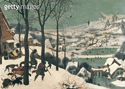 <b>Title</b> : Hunters in the Snow - February, 1565<br><b>Medium</b> : oil on canvas<br><b>Location</b> : Kunsthistorisches Museum, Vienna, Austria<br> - gettyimageskorea