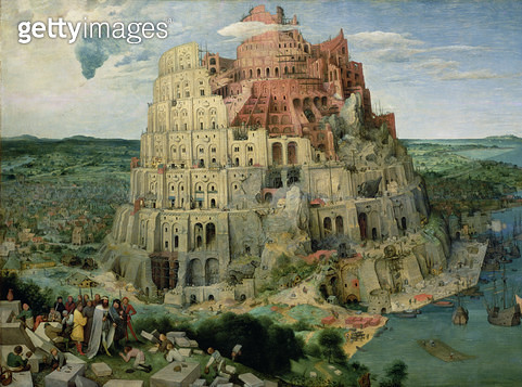 <b>Title</b> : Tower of Babel, 1563 (oil on panel) (for details see 93768-69, 186437-186438)<br><b>Medium</b> : oil on panel<br><b>Location</b> : Kunsthistorisches Museum, Vienna, Austria<br> - gettyimageskorea