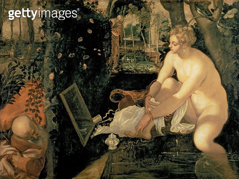 <b>Title</b> : Susanna Bathing, 1555-56<br><b>Medium</b> : oil on canvas<br><b>Location</b> : Kunsthistorisches Museum, Vienna, Austria<br> - gettyimageskorea