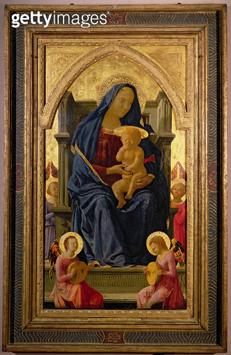 <b>Title</b> : Virgin and Child, 1426 (tempera on panel) (see 199298 for detail)<br><b>Medium</b> : tempera on panel<br><b>Location</b> : National Gallery, London, UK<br> - gettyimageskorea
