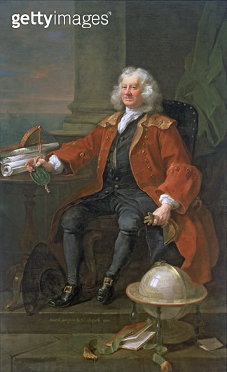 <b>Title</b> : Portrait of Captain Coram (c.1668-1751) 1740<br><b>Medium</b> : oil on canvas<br><b>Location</b> : Coram in the care of the Foundling Museum, London<br> - gettyimageskorea