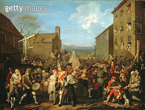 <b>Title</b> : March of the Guards to Finchley, 1750 (oil on canvas)<br><b>Medium</b> : oil on canvas<br><b>Location</b> : The Foundling Museum, London, UK<br> - gettyimageskorea