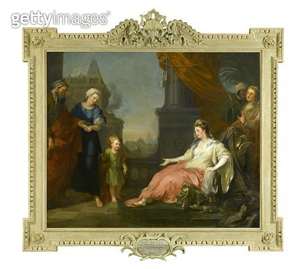 <b>Title</b> : Moses brought before Pharaoh's Daughter, 1746<br><b>Medium</b> : oil on canvas<br><b>Location</b> : Coram in the care of the Foundling Museum, London<br> - gettyimageskorea