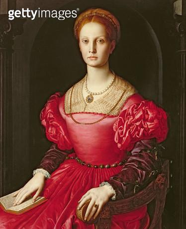 <b>Title</b> : Lucrezia Panciatichi, c.1540 (oil on panel)<br><b>Medium</b> : oil on panel<br><b>Location</b> : Galleria degli Uffizi, Florence, Italy<br> - gettyimageskorea