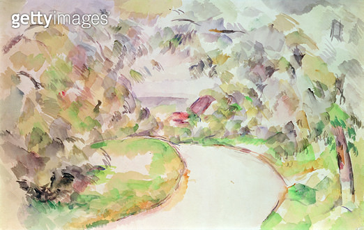 <b>Title</b> : The Winding Road (w/c)<br><b>Medium</b> : watercolour<br><b>Location</b> : Private Collection<br> - gettyimageskorea