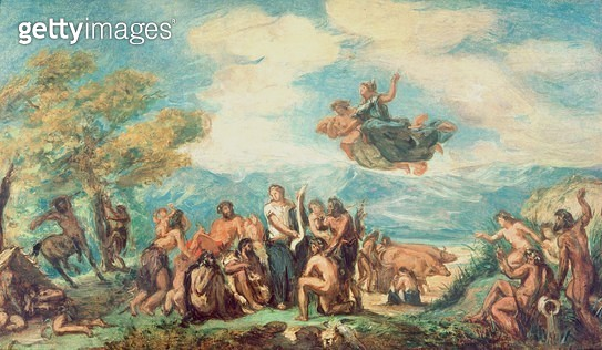Orpheus Teaching the Greeks the Art of Peace - gettyimageskorea