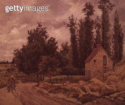 <b>Title</b> : The Road to Osny, 1872<br><b>Medium</b> : oil on canvas<br><b>Location</b> : Private Collection<br> - gettyimageskorea