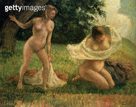 <b>Title</b> : The Bathers<br><b>Medium</b> : oil on canvas<br><b>Location</b> : Private Collection<br> - gettyimageskorea