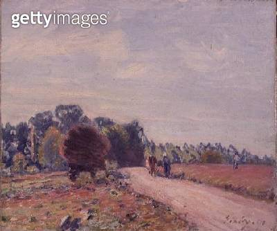 <b>Title</b> : The Road through the Meadows, Morning, 1891<br><b>Medium</b> : oil on canvas<br><b>Location</b> : Private Collection<br> - gettyimageskorea
