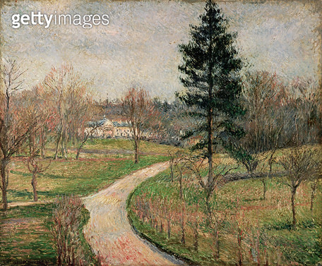 <b>Title</b> : The Chateau at Busagny, Osny, 1884<br><b>Medium</b> : oil on canvas<br><b>Location</b> : Private Collection<br> - gettyimageskorea