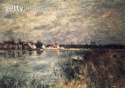 <b>Title</b> : The River Banks at Saint-Mammes<br><b>Medium</b> : <br><b>Location</b> : Private Collection<br> - gettyimageskorea