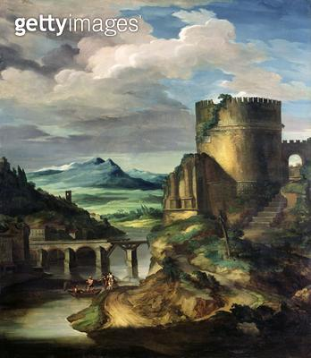 <b>Title</b> : Paysage Classique: Matin<br><b>Medium</b> : oil on canvas<br><b>Location</b> : Private Collection<br> - gettyimageskorea