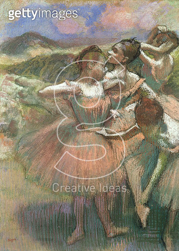<b>Title</b> : Four dancers on stage (pastel)<br><b>Medium</b> : pastel<br><b>Location</b> : Private Collection<br> - gettyimageskorea