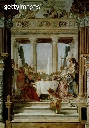 <b>Title</b> : Cleopatra's Banquet<br><b>Medium</b> : <br><b>Location</b> : Palazzo Labia, Venice, Italy<br> - gettyimageskorea