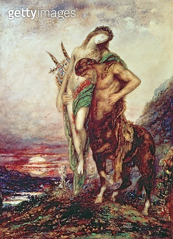 <b>Title</b> : Dead poet borne by centaur<br><b>Medium</b> : <br><b>Location</b> : Musee Gustave Moreau, Paris, France<br> - gettyimageskorea