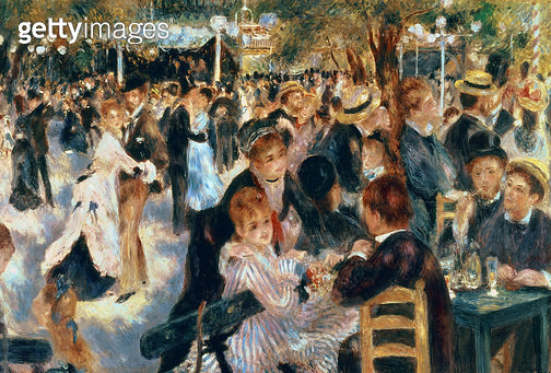 <b>Title</b> : Ball at the Moulin de la Galette, 1876 (oil on canvas)<br><b>Medium</b> : oil on canvas<br><b>Location</b> : Private Collection<br> - gettyimageskorea