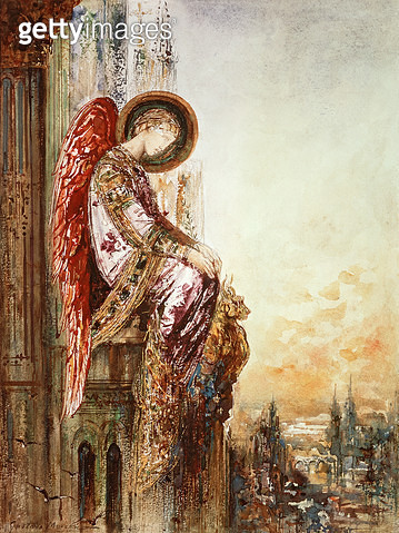 <b>Title</b> : Angel Traveller (w/c)<br><b>Medium</b> : watercolour<br><b>Location</b> : Musee Gustave Moreau, Paris, France<br> - gettyimageskorea