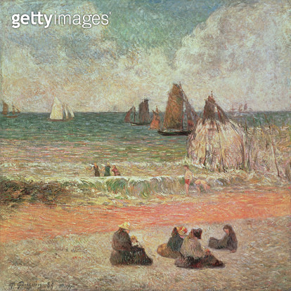 <b>Title</b> : Bathing, Dieppe, 1885<br><b>Medium</b> : oil on canvas<br><b>Location</b> : Ny Carlsberg Glyptotek, Copenhagen, Denmark<br> - gettyimageskorea