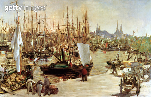<b>Title</b> : The Port of Bordeaux, 1871 (oil on canvas)<br><b>Medium</b> : oil on canvas<br><b>Location</b> : Buhrle Collection, Zurich, Switzerland<br> - gettyimageskorea