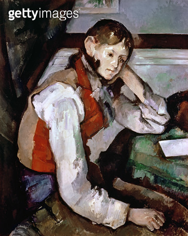 <b>Title</b> : The Boy in the Red Waistcoat, 1888-90 (oil on canvas)<br><b>Medium</b> : oil on canvas<br><b>Location</b> : Buhrle Collection, Zurich, Switzerland<br> - gettyimageskorea