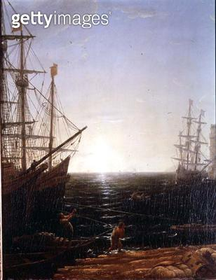 <b>Title</b> : Harbour Scene (detail)<br><b>Medium</b> : <br><b>Location</b> : Private Collection<br> - gettyimageskorea