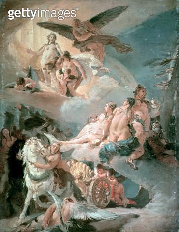 <b>Title</b> : Phaethon and Apollo<br><b>Medium</b> : <br><b>Location</b> : Akademie der Bildenden Kunste, Vienna, Austria<br> - gettyimageskorea