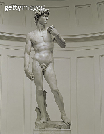 <b>Title</b> : David by Michelangelo Buonarroti (1475-1564), 1501-04 (marble)<br><b>Medium</b> : marble<br><b>Location</b> : Galleria dell' Accademia, Florence, Italy<br> - gettyimageskorea