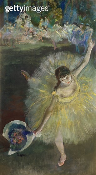 <b>Title</b> : End of an Arabesque, 1877 (oil & pastel on canvas)<br><b>Medium</b> : oil and pastel on canvas<br><b>Location</b> : Musee d'Orsay, Paris, France<br> - gettyimageskorea