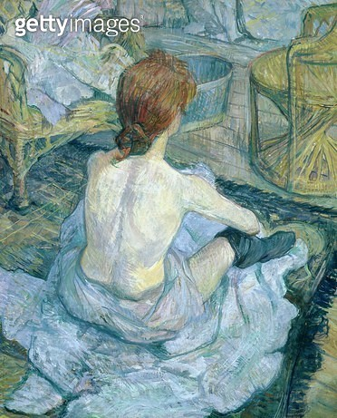 <b>Title</b> : Woman at her Toilet, 1896 (oil on cardboard) (see 146949)<br><b>Medium</b> : oil on cardboard<br><b>Location</b> : Musee d'Orsay, Paris, France<br> - gettyimageskorea