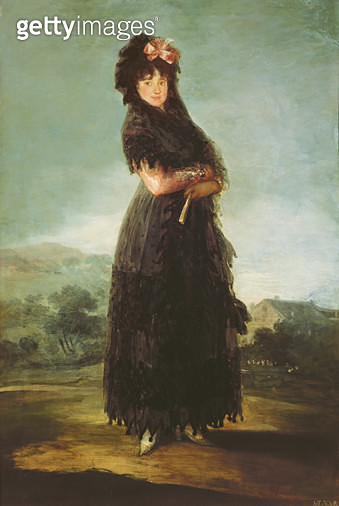 <b>Title</b> : Mariana Waldstein (1763-1808) 9th Marquesa of Santa Cruz, c.1797-99 (oil on canvas)<br><b>Medium</b> : oil on canvas<br><b>Location</b> : Louvre, Paris, France<br> - gettyimageskorea