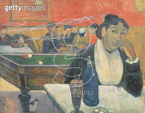<b>Title</b> : Cafe at Arles, 1888 (oil on canvas)<br><b>Medium</b> : oil on canvas<br><b>Location</b> : Pushkin Museum, Moscow, Russia<br> - gettyimageskorea