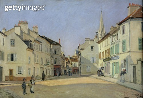 <b>Title</b> : Rue de la Chaussee at Argenteuil, 1872 (oil on canvas)<br><b>Medium</b> : oil on canvas<br><b>Location</b> : Musee d'Orsay, Paris, France<br> - gettyimageskorea