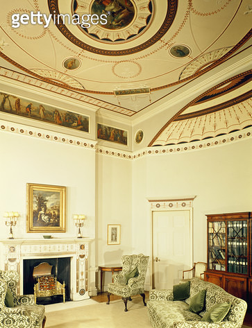 The Etruscan Room designed by Robert Adam in the neo-classical style/ 1777 (photo) - gettyimageskorea