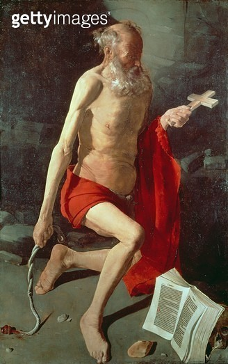 <b>Title</b> : St. Jerome, c.1620 (oil on canvas)<br><b>Medium</b> : oil on canvas<br><b>Location</b> : Musee des Beaux-Arts, Grenoble, France<br> - gettyimageskorea