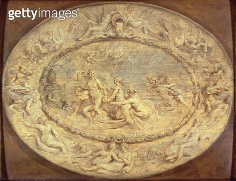 The Birth of Venus/ c.1632-33 (black chalk & oil on panel) - gettyimageskorea