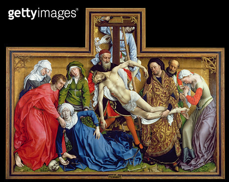 <b>Title</b> : Descent from the Cross, c.1435 (oil on panel)<br><b>Medium</b> : oil on panel<br><b>Location</b> : Prado, Madrid, Spain<br> - gettyimageskorea