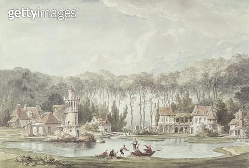 <b>Title</b> : The Hameau, Petit Trianon (w/c)<br><b>Medium</b> : watercolour<br><b>Location</b> : Biblioteca Estense, Modena, Italy<br> - gettyimageskorea