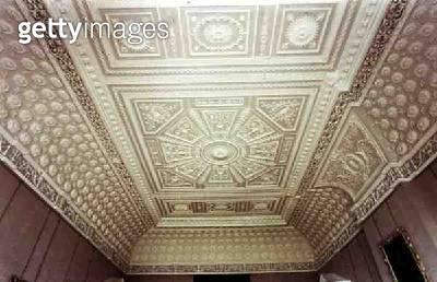 <b>Title</b> : Saloon ceiling, c.1768 (photo)<br><b>Medium</b> : <br><b>Location</b> : Claydon House, Buckinghamshire, UK<br> - gettyimageskorea