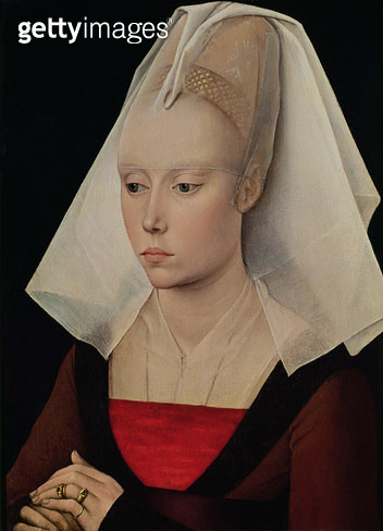 <b>Title</b> : Portrait of a Lady, c.1450-60 (oil on oak panel)<br><b>Medium</b> : oil on oak panel<br><b>Location</b> : National Gallery, London, UK<br> - gettyimageskorea