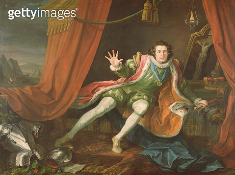 <b>Title</b> : David Garrick (1717-79) as Richard III, 1745 (oil on canvas)<br><b>Medium</b> : oil on canvas<br><b>Location</b> : Walker Art Gallery, National Museums Liverpool<br> - gettyimageskorea