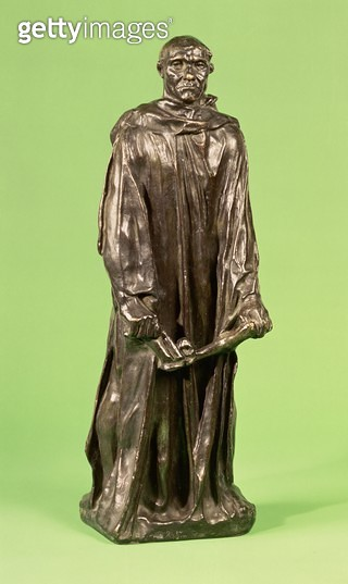 <b>Title</b> : Jean d'Aire, from the Burghers of Calais (bronze) (see also 167162 & 167163)Additional Infohero of the Hundred Years War; burghe<br><b>Medium</b> : bronze<br><b>Location</b> : Private Collection<br> - gettyimageskorea