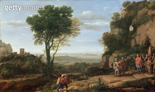 Landscape with David at the Cave of Abdullam/ 1658 (oil on canvas) - gettyimageskorea