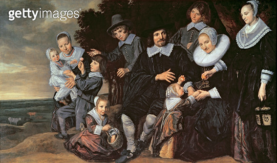 <b>Title</b> : Family Group in a Landscape, c.1647-50 (oil on canvas)<br><b>Medium</b> : oil on canvas<br><b>Location</b> : National Gallery, London, UK<br> - gettyimageskorea