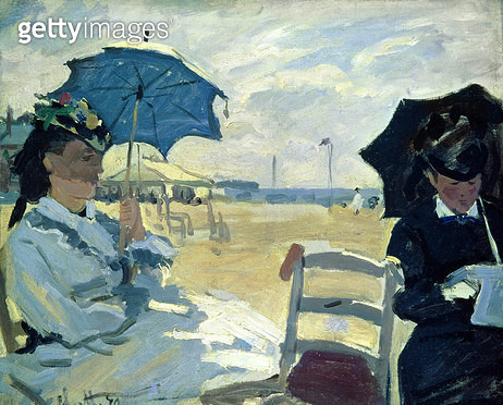 <b>Title</b> : The Beach at Trouville, 1870 (oil on canvas)<br><b>Medium</b> : oil on canvas<br><b>Location</b> : National Gallery, London, UK<br> - gettyimageskorea