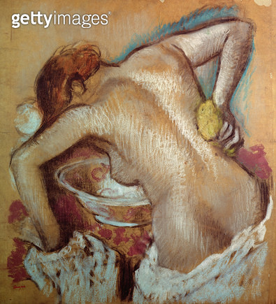 <b>Title</b> : Woman at her toilet, c.1894 (pastel)<br><b>Medium</b> : pastel<br><b>Location</b> : Private Collection<br> - gettyimageskorea