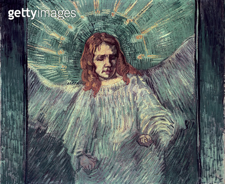 <b>Title</b> : Head of an Angel, after Rembrandt, 1889 (oil on canvas)<br><b>Medium</b> : oil on canvas<br><b>Location</b> : Private Collection<br> - gettyimageskorea